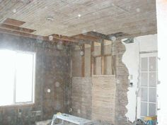 Home Remodeling Old Houses removing lathe and plaster, insulating, drywalling - Old House Forum - GardenWeb Home Renovation, Home Remodeling Diy, Blown In Insulation, Home Insulation, Room Cooler, Plaster Walls, Easy Home Decor, Home Repair, Home Improvement Projects