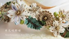 Hobbies That Will Make You Money Refferal: 3524935625 Flower Ornaments, Hair Ornaments, Cloth Flowers, Fabric Flowers, Ribbon Crafts, Flower Crafts, Fleurs Kanzashi, Hobby Shops Near Me, Flower Hair Band