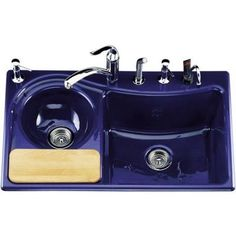 blue kitchen sink www elkay com sinks 48 best cobalt ideas images kitchens craigslist on cilantro tm self rimming