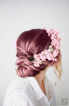 This makes me think about changing my hair color to rose pink..