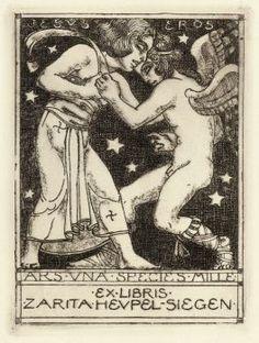 Exlibris-Konvolut: Ca. 300 Exlibris ca. 1880-1925 Exlibris Exlibris-Sammlung mit ca. 300 (wenigen do