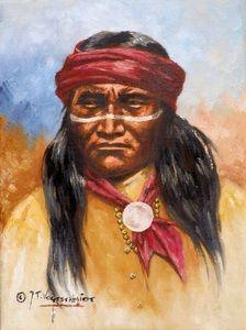 Old west artist Jeroen Vogtschmidt Apache Native American, Native American Photos, Native American Artists, American Indians, Indian Artwork, Indian Paintings, Native Indian, Native Art, Ghost Towns Of America