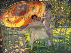 Frederick Frieseke, The Garden Parasol, 1910