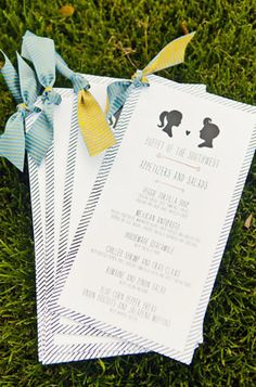 Day-Of Wedding Stationery Inspiration and Ideas: Silhouettes via Oh So Beautiful Paper (11)