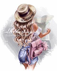 Girl Cartoon, Cute Cartoon, Cartoon Art, Anime Girl Cute, Anime Art Girl, Arte Do Mickey Mouse, Sarra Art, Couple Sketch, Girly M