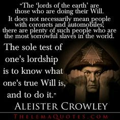 Resultado de imagem para Quotes by Aleister Crowley Magick, Witchcraft, Wiccan, Aleister Crowley, Mean People, Tarot Readers, Spiritual Awakening, Spiritual Enlightenment, The Magicians
