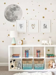 Moon and Stars Wall Sticker, Moon Wall Sticker, Star wall Decals – Peel and Stick Wall Stickers Kids Room Decor - Home Decor Wall Stickers Stars, Kids Room Wall Stickers, Bedroom Wall, Girls Bedroom, Bedroom Decor, Star Bedroom, Kid Bedrooms, Bedroom Ideas, Bedroom Designs