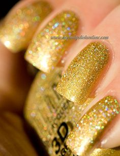 My Nail Polish Online - golden manicure