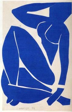 Henri Matisse (1869 - 1954) | Abstract Expressionism | Blue Nude - 1952