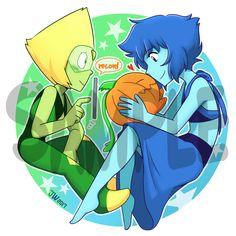 Lapis And Peridot, Lapis Lazuli, Steven Universe Lapidot, Perla Steven Universe, Best Bud, Art Sketches, Comic Art, Animation, Fan Art