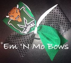 Marshall University Cheer Bow by emNmoBows on Etsy, $20.00