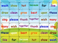 'Sight Word Games' - Learn High Frequency Sight Words - Heaps of Fun! School Games For Kids, Sunday School Games, Fun Games For Kids, Dolch Sight Word List, Sight Words List, Sight Word Games, Ten Games, Phonics Games, Outdoor Games For Kids