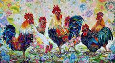 The prettiest chickens!