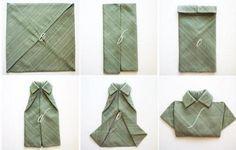 Mini-Hemd-Faltanleitung in Bildern-einfache Falttechnik