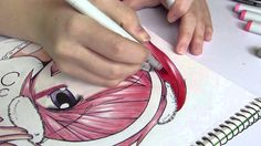 Anime Girl Copic Marker Speed Drawing - YouTube