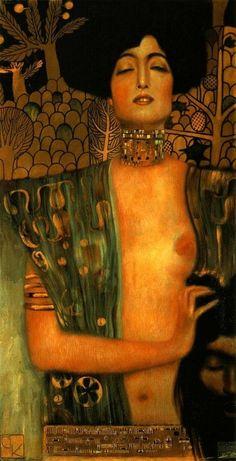Judith and Holopherne by Gustav Klimt