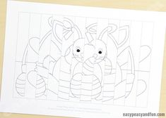 Easter Agamograph Template - Easy Peasy and Fun Craft Projects For Kids, Paper Crafts For Kids, Crafts To Do, Arts And Crafts, Art Template, Templates Printable Free, Easter Art, Easter Crafts, Painting For Kids