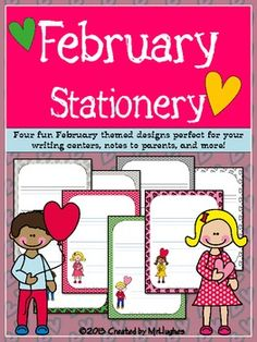 February Themed Stationery {FREEBIE}.  Don't miss this one for next year!  :)
