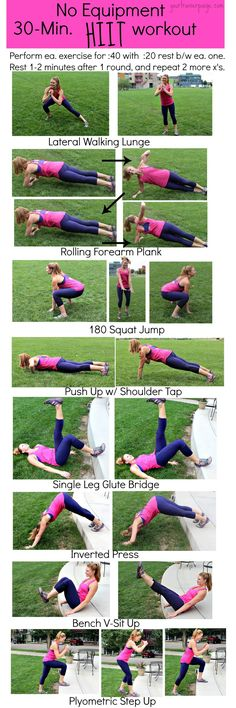 Body Weight HIIT Workout - No Equipment.
