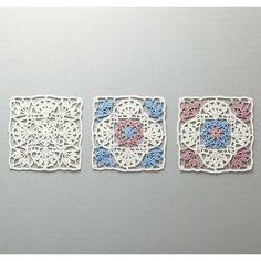 お届け柄の一例です。 ●1回分のお届けでモチーフを3枚作ることができます。