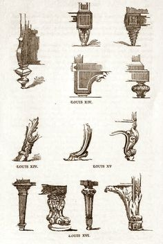 Captivating French Furniture Details ~ From When Monarchs Had Furniture Leg Styles  Named After Them.