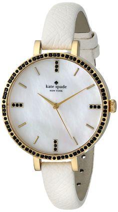 Amazon.com: kate spade new york Women's 1YRU0591 Metro Analog Display Japanese Quartz Black Watch: Watches