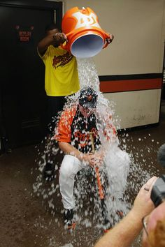 Buck Showalter accepted Adam Jones' Ice Bucket Challenge for ALS Buck Showalter, Water Challenge, Adam Jones, Orioles Baseball, Crusaders, Baltimore Orioles, Ravens, Maryland, Cure