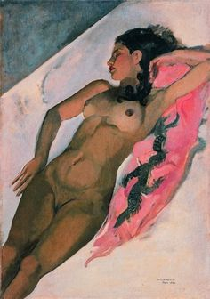 Amrita Sher-Gil: Sleeping Woman. Amrita Sher-Gil was an eminent Indian painter born to a Punjabi Sikh father and a Hungarian mother, sometimes known as India's Frida Kahlo, and today considered an important woman painter of 20th century India.
