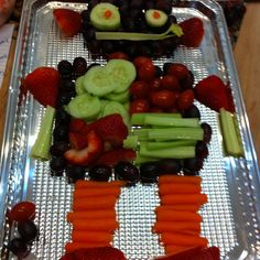 This is our Fruit Robot for my son's 4th Birthday Party! We used your robot theme, and designed the robot after one of the robots in your theme. Everyone loved it!