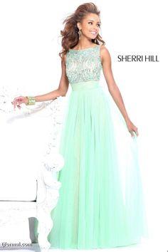 Mint-green Sherri Hill Dress