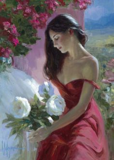 Lady In Red Print by Vladimir Volegov at AllPosters.com