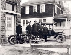Ferndale MI. 1927.  First Police Force and their modernized equipment. Meaning horses were no longer used.
