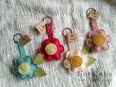 key chains from felt and ribbon