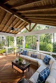 Outdoor Deck Ideas – As soon as you finished design the interior of the house, you will start planning the layout of house outside area. Outdoor deck idea is one . Outdoor Living Space, Outdoor Decor, Patio Design, Home, Screened Porch Designs, Family Room Design, Outdoor Living, House With Porch, Porch Design