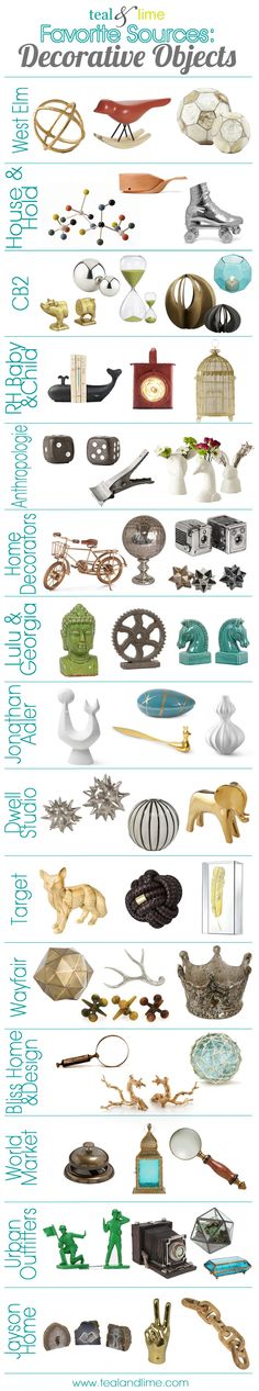 favorite sources for decorative objects