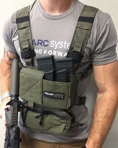COMPLETE MICRO FIGHT CHEST RIG SET UP! The Micro Fight Chest Rig was designed to fill a specific need for responsible firearm carrying citizens and professionals working in low-visibility operations. Tactical Wear, Tactical Clothing, Tactical Survival, Bushcraft Gear, Paintball Gear, Airsoft Gear, Military Gear, Military Equipment, 5.11 Tactical Series