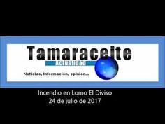 Tamaraceite: Incendio entre Hoya Andrea y Almatriche.