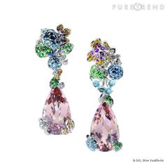 """Incroyables et Merveilleuses Fruits"" Dior Joaillerie Earrings."