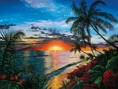 """Sunset Serenade"" tropical canvas print by Scott Westmoreland via @greatbigcanvas available at GreatBIGCanvas.com."