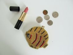 Vintage Beaded Fish Coin Purse 1940s by SeedAndVine on Etsy