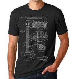 Gibson Les Paul Patent T Shirt, Guitar Shirt, Guitar Player Gift, Electric Guitar  PP0047 Z1016