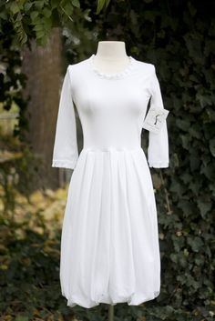 Casual Modest White Dress
