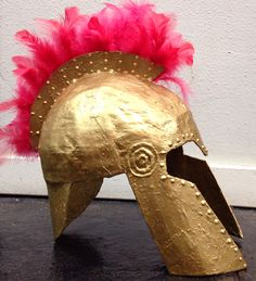 Athena's helmet made with cardboard and newspapers.  #knight…                                                                                                                                                                                 More