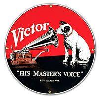 #Retro #RCA Victor Nipper Masters Voice Tin Sign #retro #advertising  http://www.retroplanet.com/PROD/6657