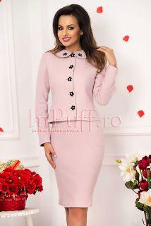 Peplum Dress, High Neck Dress, Coral, Costume, Dresses, Fashion, Embroidery, Turtleneck Dress, Vestidos