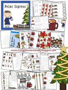Free Polar Express MEGA Printable Pack by LivingLifeIntentionally featured on FreeHomeschoolDea... This set is 53 pages for Tots, Preschool, Kindergarten, and First Grade levels.