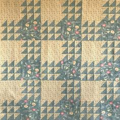 Wild Geese Straight Furrows Baby Quilt
