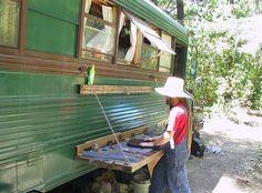 Vintage Bus Conversion - Enchanted Gypsy Exterior
