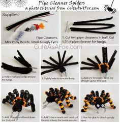 Cute As a Fox: Beaded Pipe Cleaner Spiders