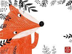 A thing of beauty is a joy forever: Dinara Mirtalipova Fox 🦊 Art And Illustration, Fuchs Illustration, Illustration Inspiration, Fox Drawing, Fox Art, Cute Fox, Mail Art, Illustrators, Artsy